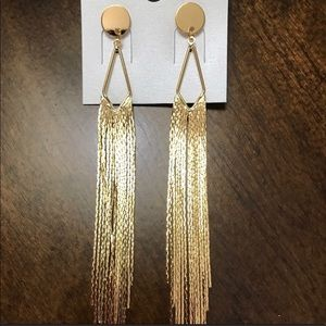 70s 80s Retro Gold Dangling Chandelier Earrings